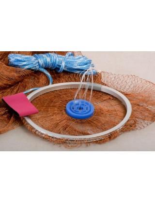 Кастинговая сеть капроновая с малым кольцом (⌀ сети 3,4 м , ячея 20 мм)
